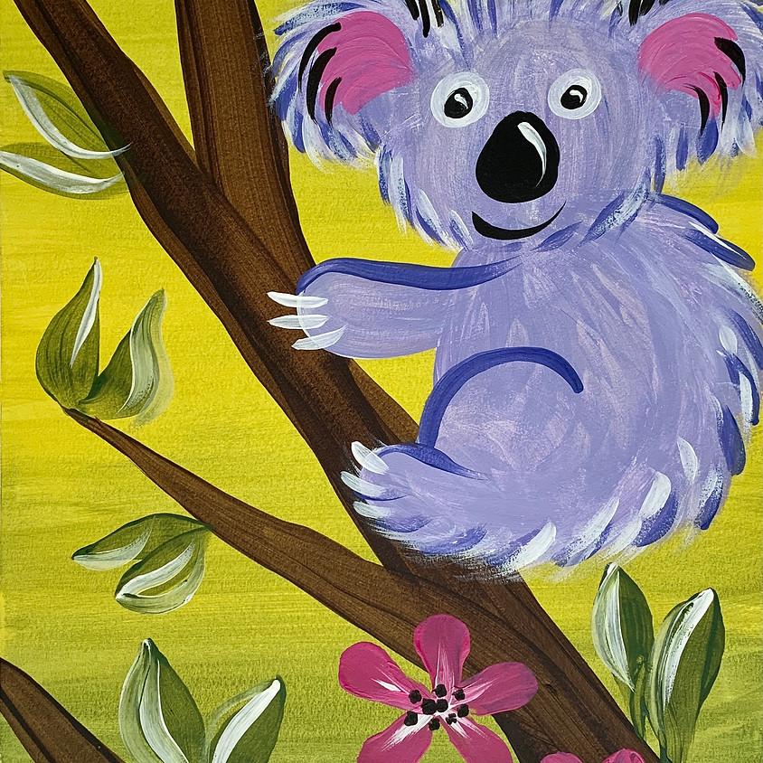 Facebook Paint Along - The Koala