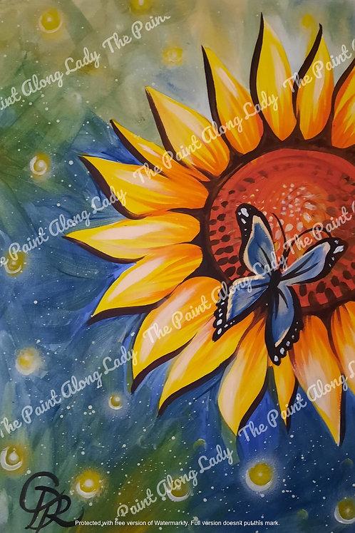 Butterfly & Sunflower