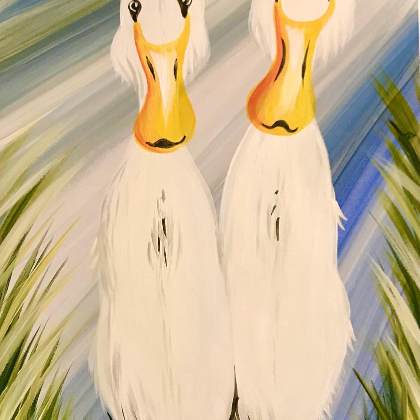 7pm ZOOM Paint Along - Ducks