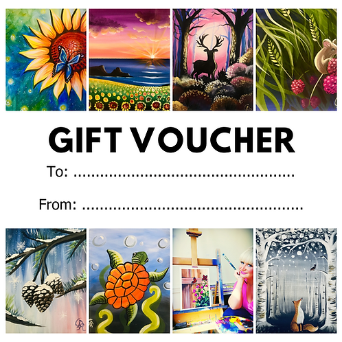 Paint Along Gift Voucher