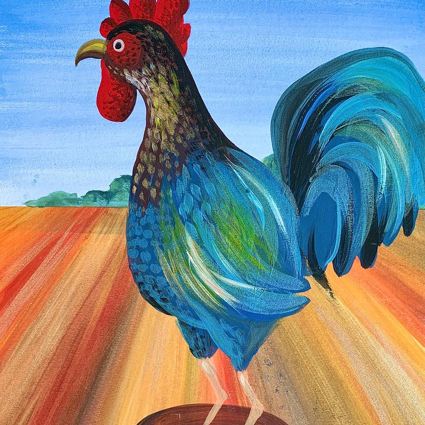 Paint-Along Workshop 'Cock-A-Doodle-Doo' - Murton