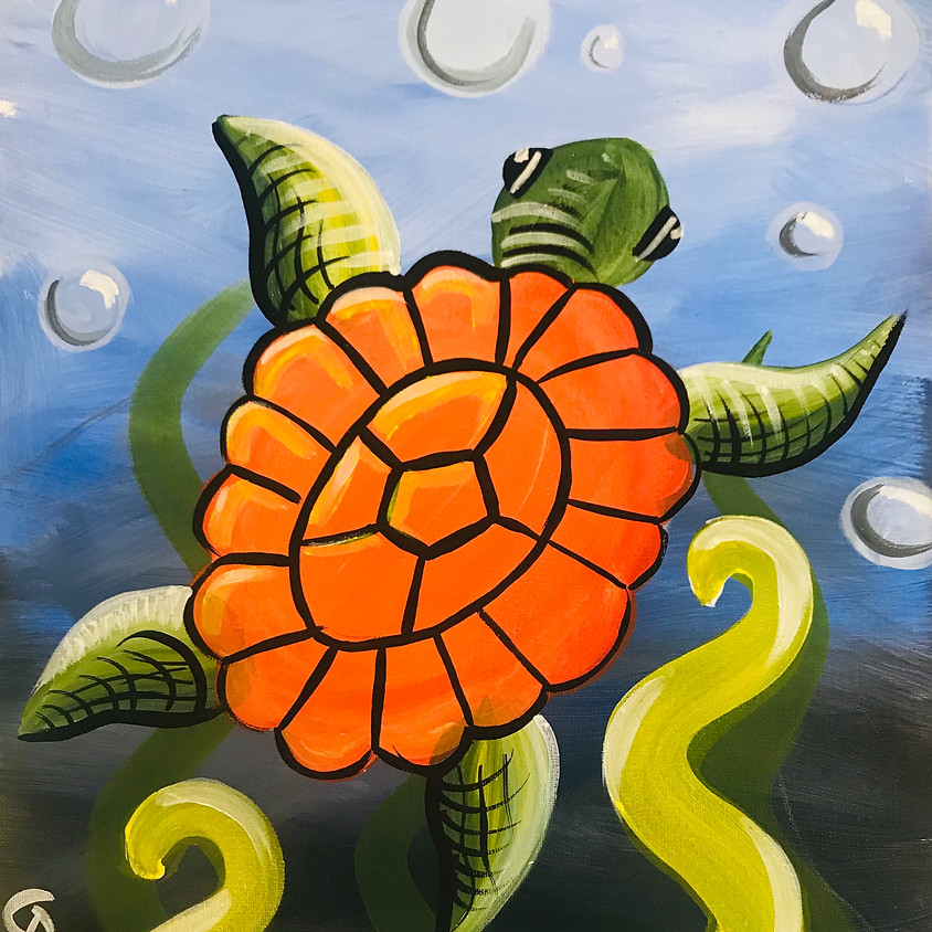 Pre-recorded Paint Along - Mertle the Turtle