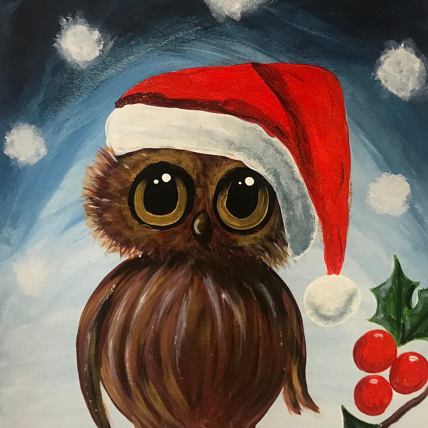 Live Paint Along - The Owl - Paint Your Own Christmas Cards!