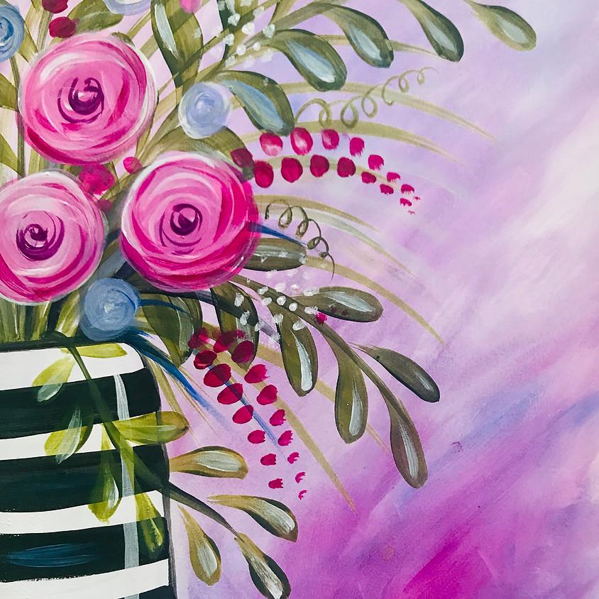10am ZOOM Paint Along - The Vase