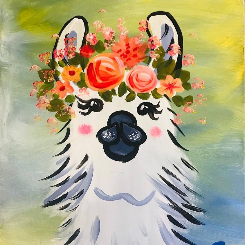 Pre-recorded Paint Along - Drama Llama