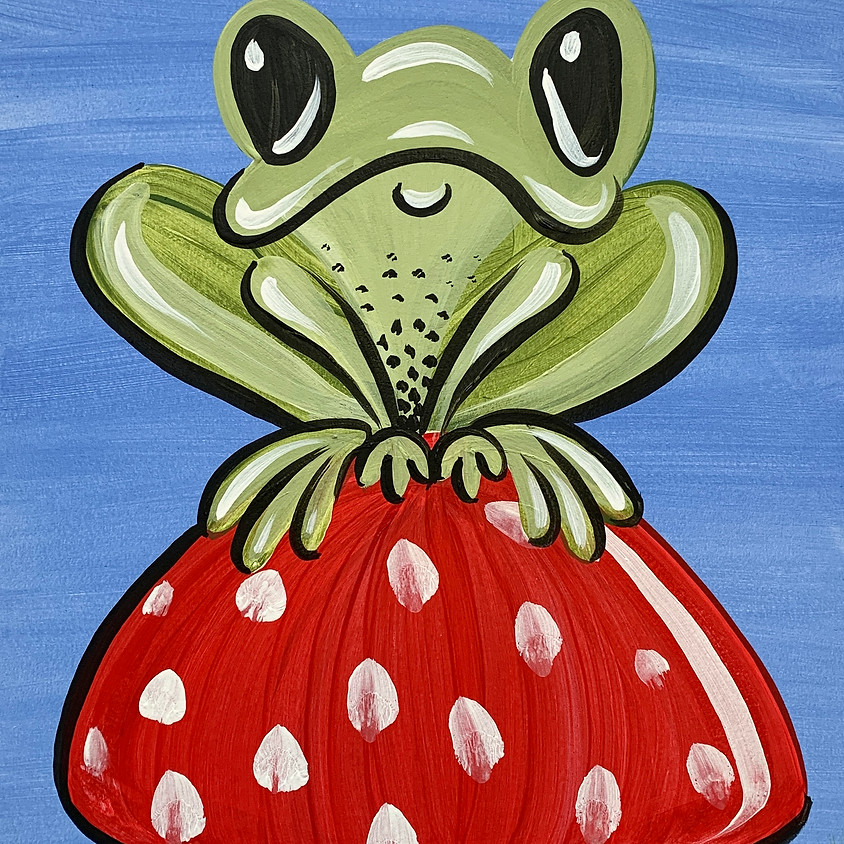 Facebook Paint Along - The Frog