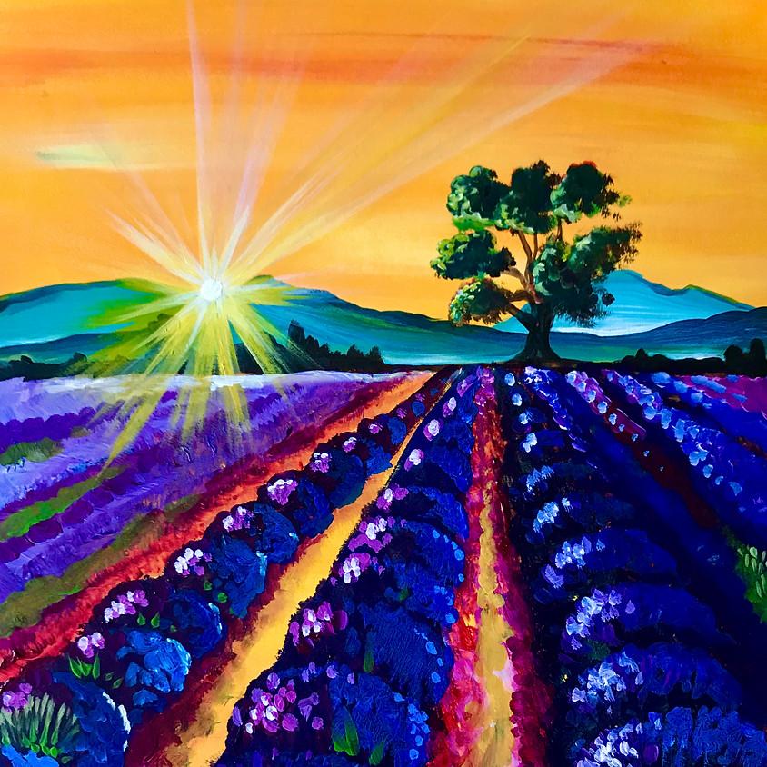 Pre-recorded Paint Along - Lavender Sunset