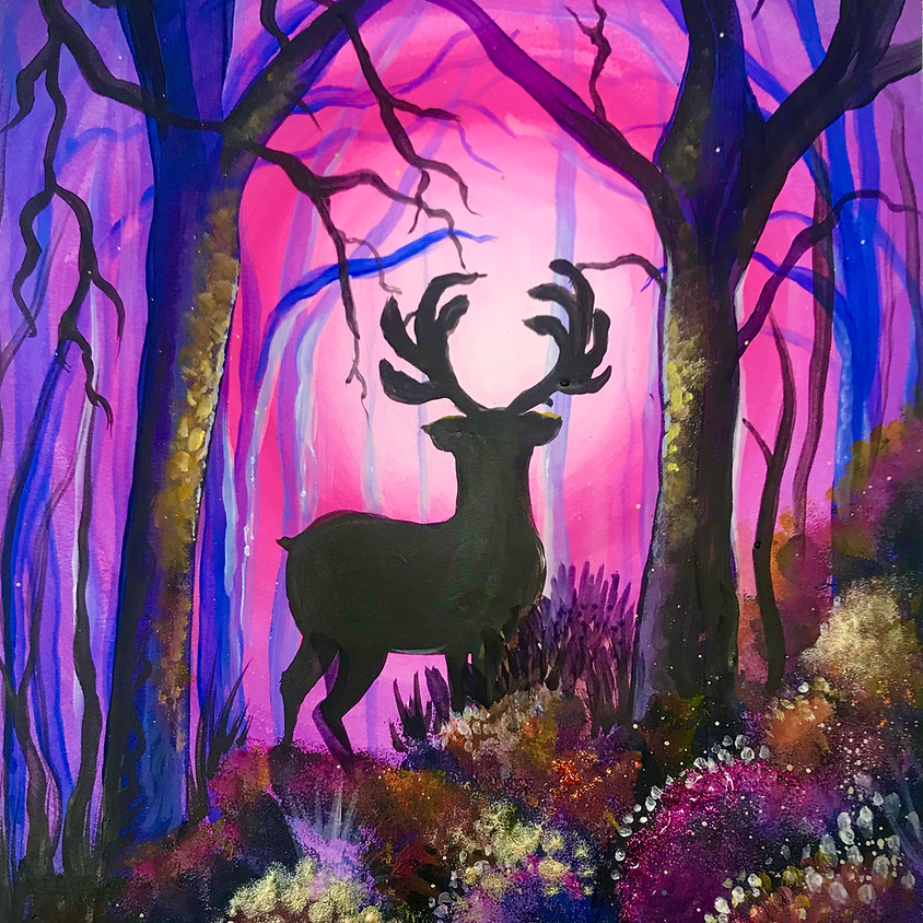 Live Paint Along - The Stag - Paint Your Own Christmas Cards!