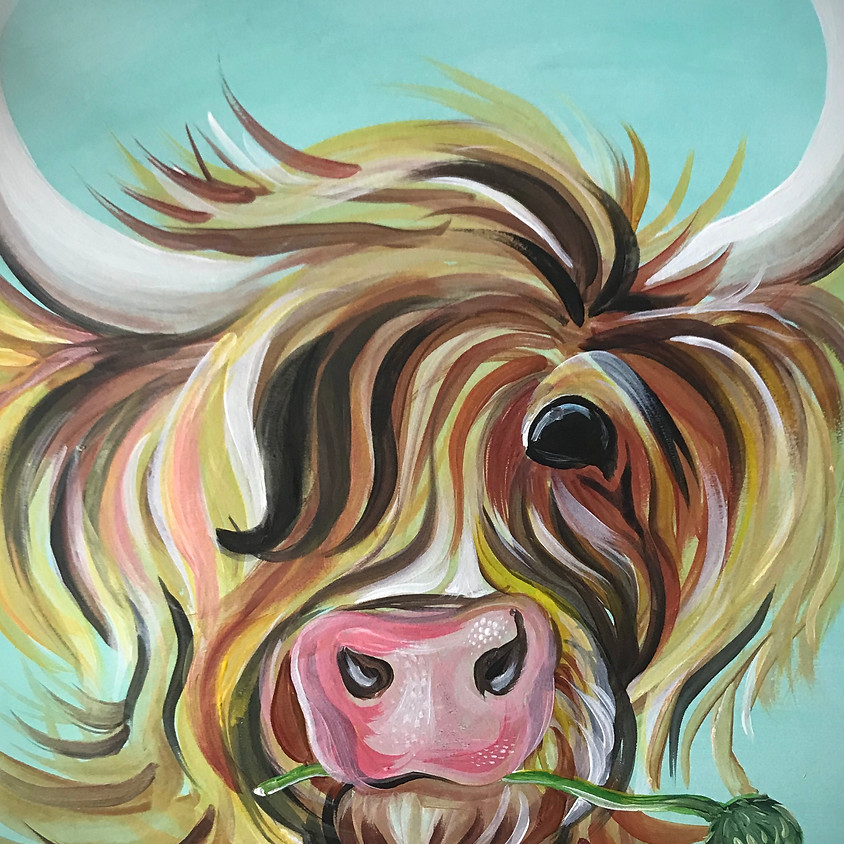 Live Paint Along - Highland Cow