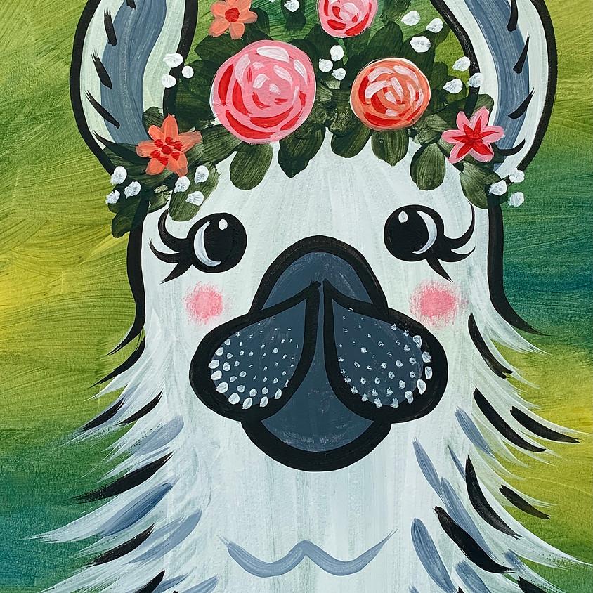 Facebook Paint Along - The Llama