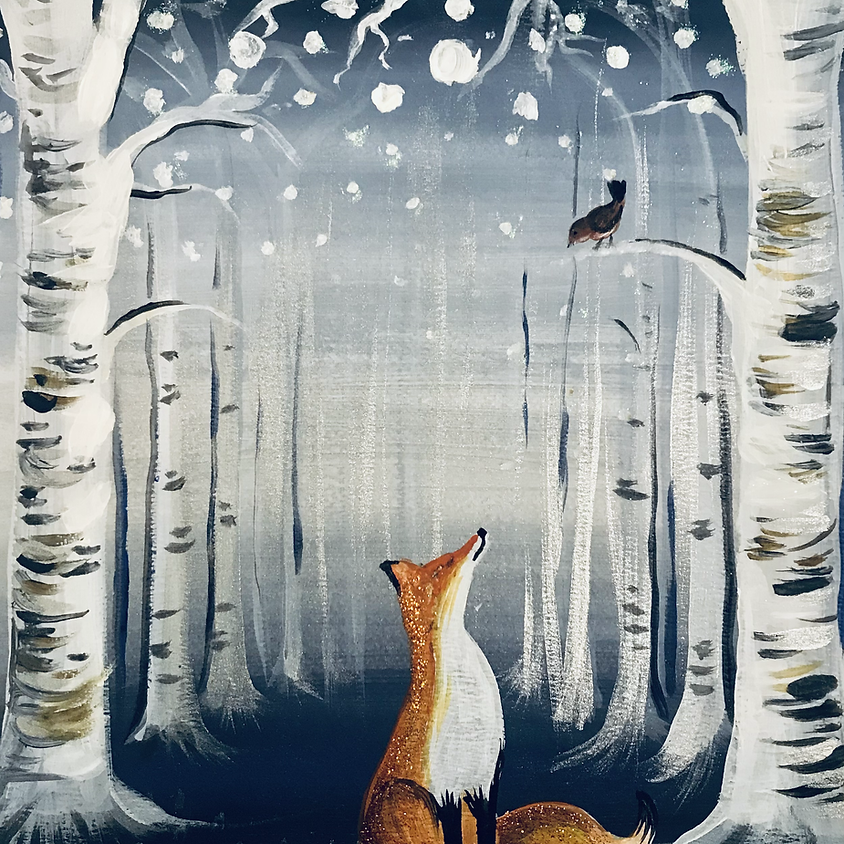 Live Paint Along - The Fox - Paint Your Own Christmas Cards!