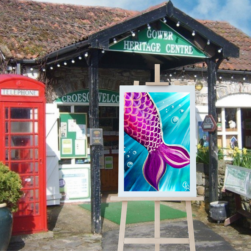 Children's Paint Along - Gower Heritage Centre - Mermaid's Tail