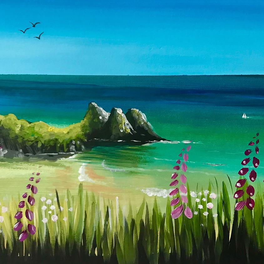 Live Paint Along - Three Cliffs Bay