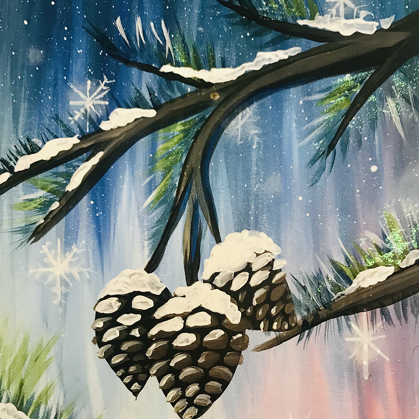 Live Paint Along - Snow Cones - Paint Your Own Christmas Cards!