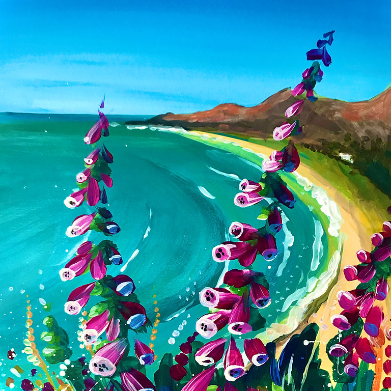 Pre-recorded Paint Along - Rhossili Foxgloves