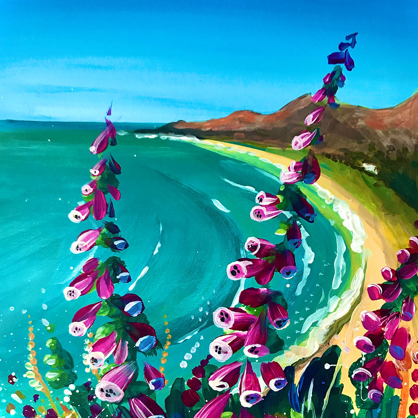 Live Paint Along - Foxgloves at Rhossili