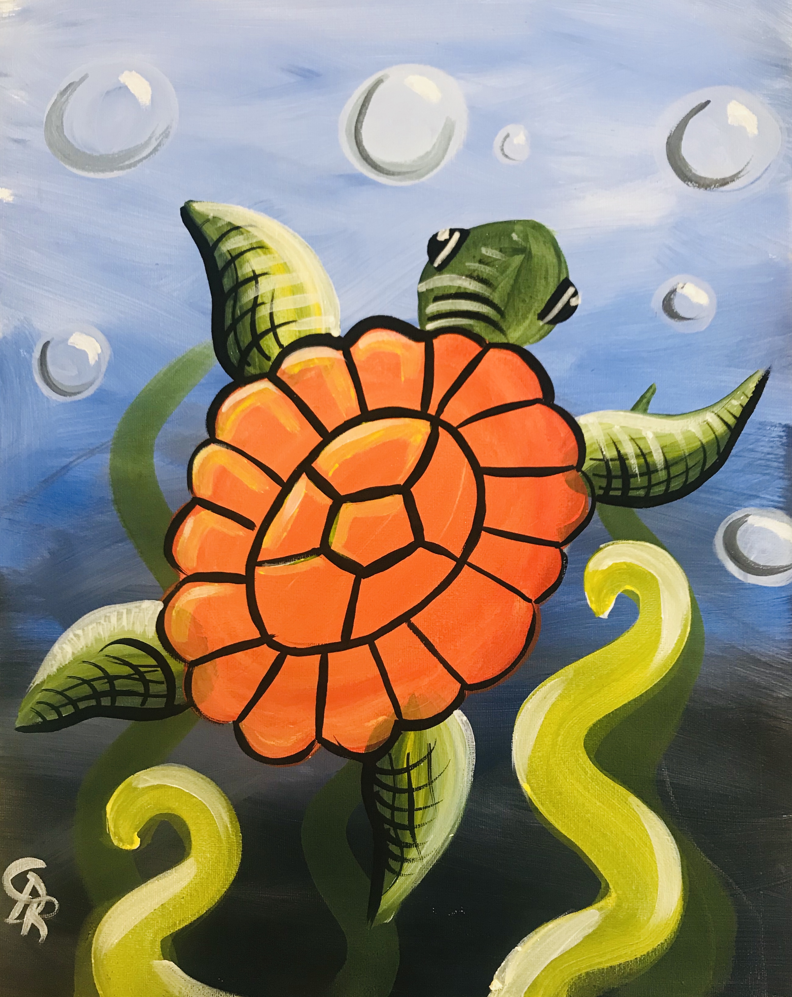 Orange Sea Turtle