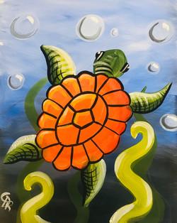 Orange Sea Turtle