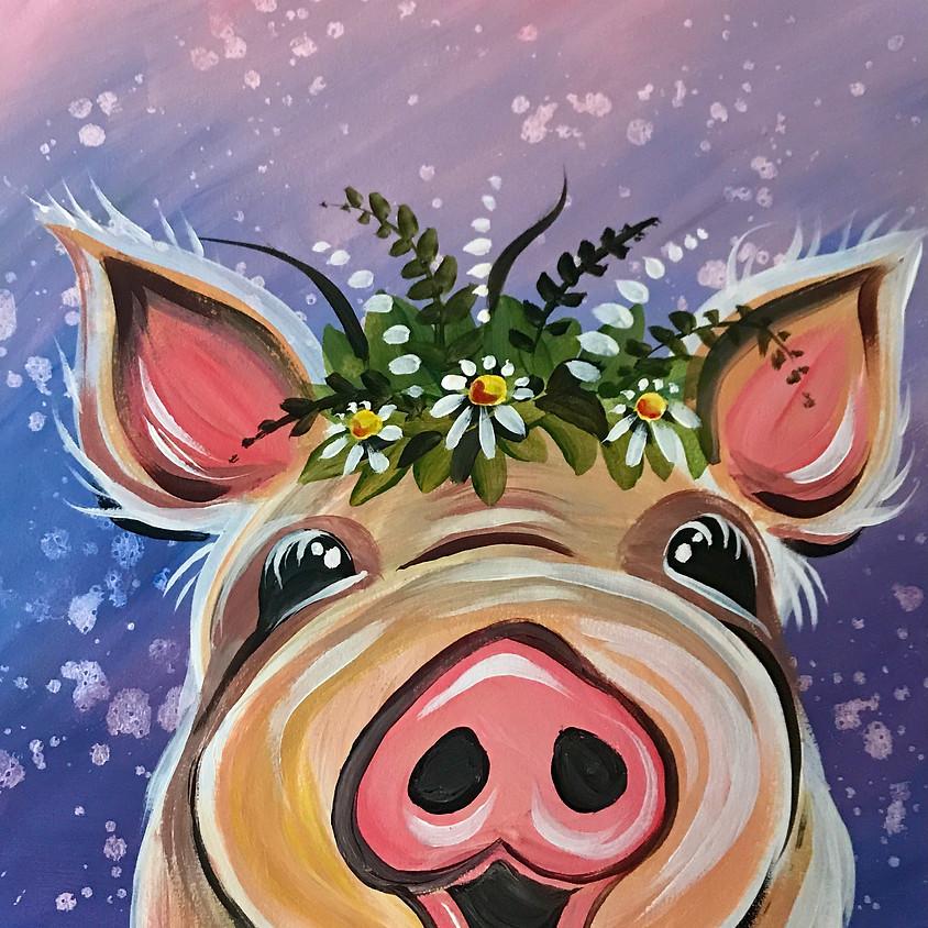 7pm ZOOM Paint Along - Pig