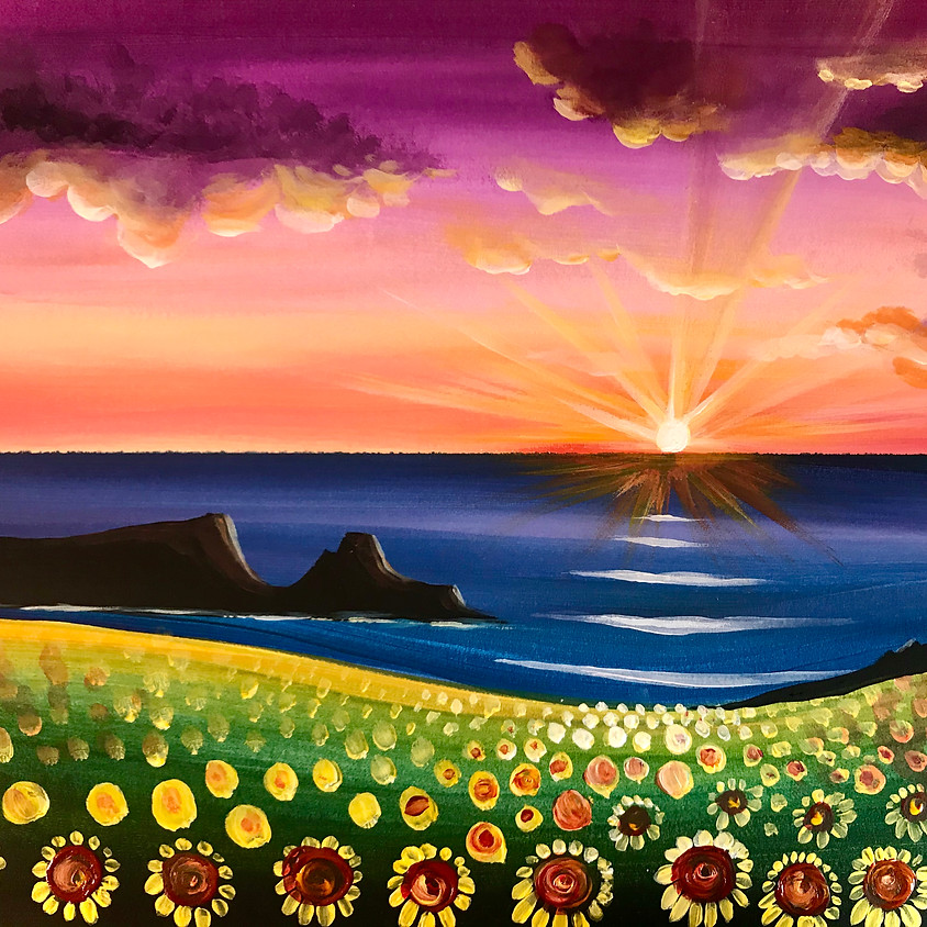 Live Paint Along - Rhossili Sunflowers