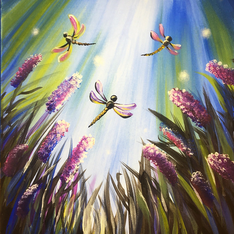 Pre-recorded Paint Along - Dragonflies (AVAILABLE 18th March)