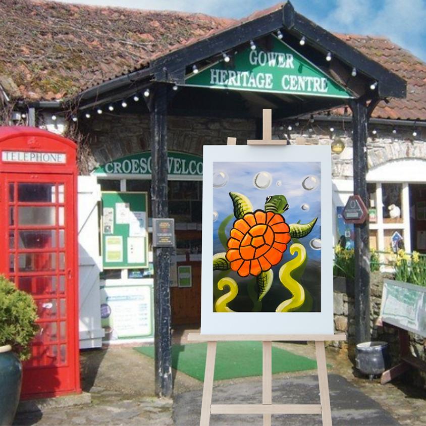 Children's Paint Along - Gower Heritage Centre - The Turtle
