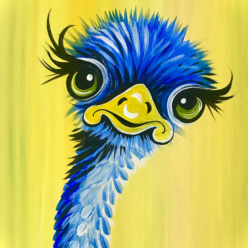 Facebook Paint Along - The Emu
