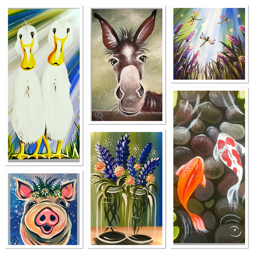 ZOOM (Live & Interactive) Paint Alongs - FULL SERIES (6 paintings)