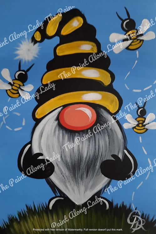 Bee Happy Gnome (Blue)
