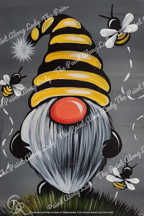 Bee Happy Gnome (Grey)