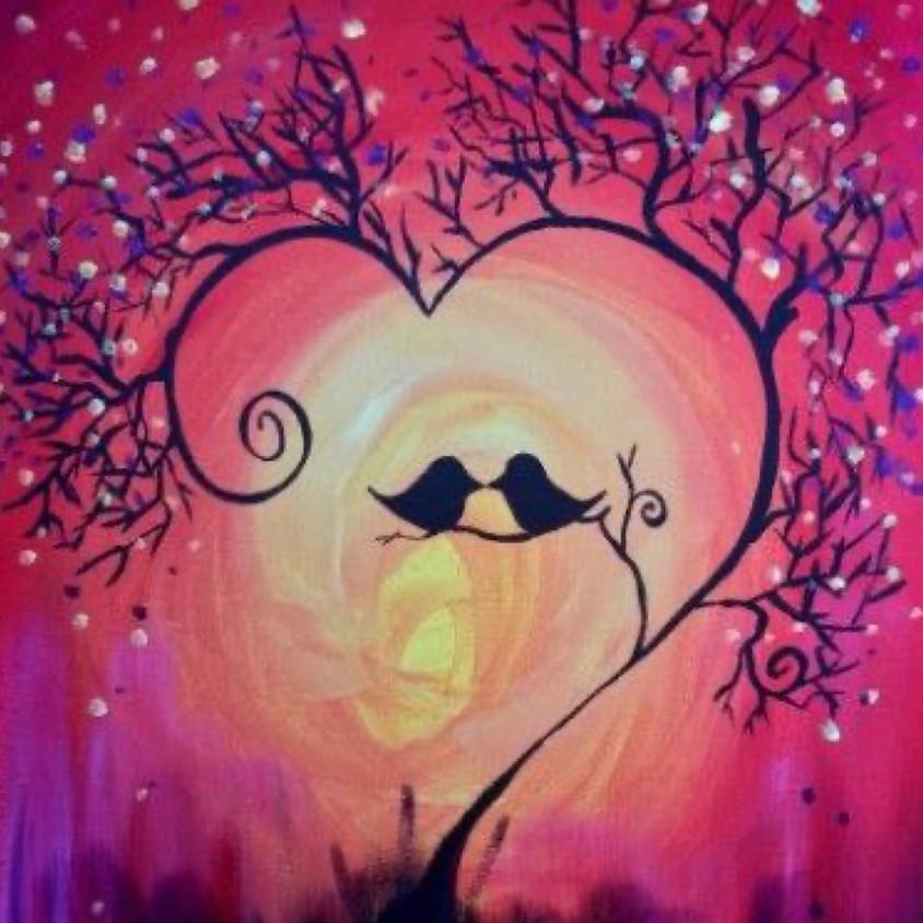 Pre-recorded Paint Along - Lovebirds