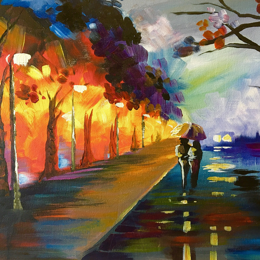 Pre-recorded Paint Along - Walk in the rain