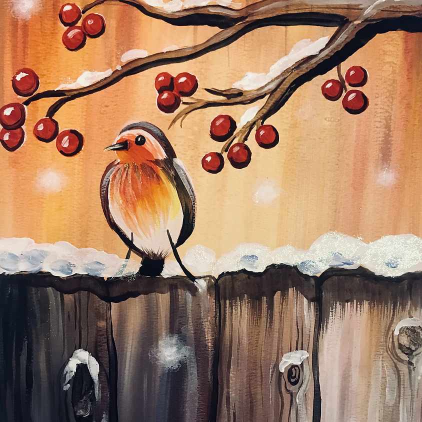 Live Paint Along - The Robin  - Paint Your Own Christmas Cards!