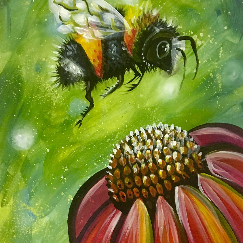 Pre-recorded Paint Along - Bumble Bee