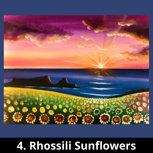 4. Rhossili Sunflowers