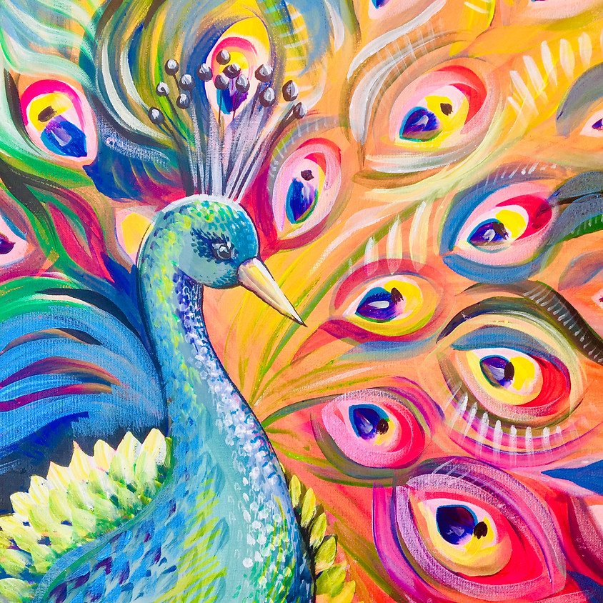Pre-recorded Paint Along - Peacock