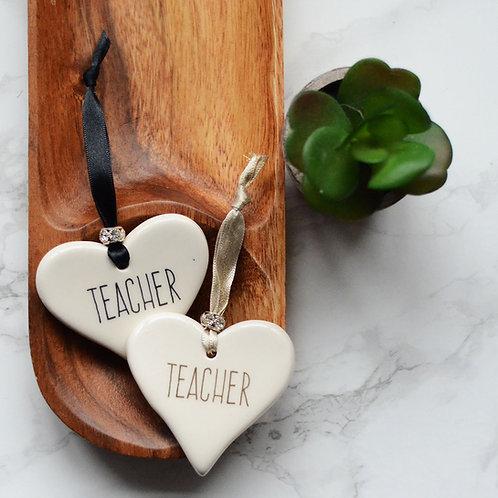 Teacher Ceramic Heart