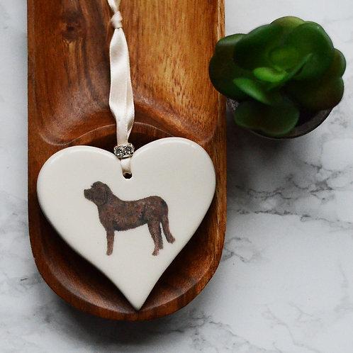 Labradoodle / Cockerpoo Ceramic Heart