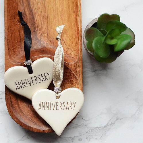 Anniversary Ceramic Heart