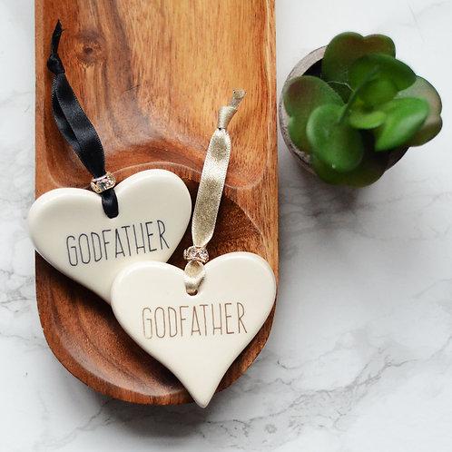 Godmother / Godfather Ceramic Heart