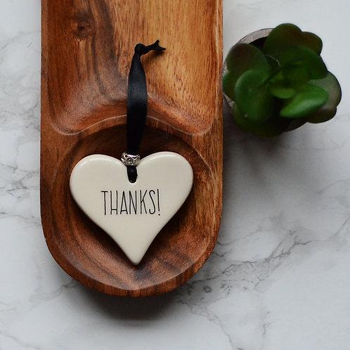 Thanks! Ceramic Heart