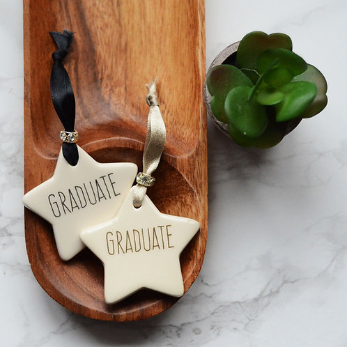 Graduate Ceramic Heart /Star