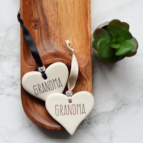 Grandad / Grandma Ceramic Heart