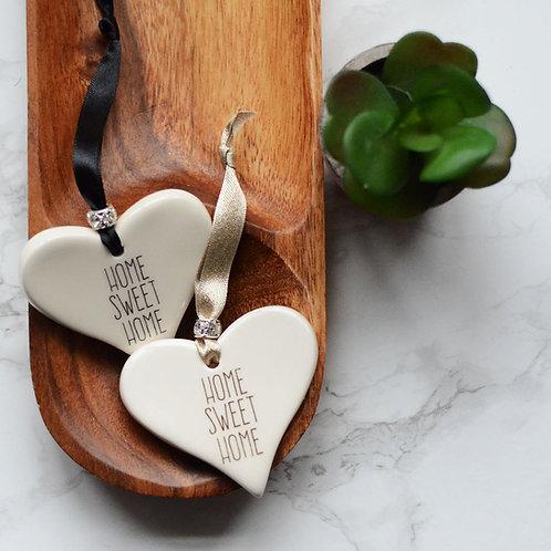Home Sweet Home Ceramic Heart / House