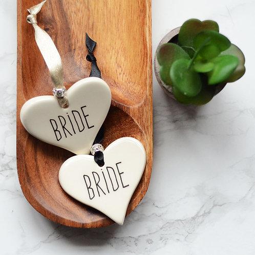 Bride & Groom Ceramic Heart