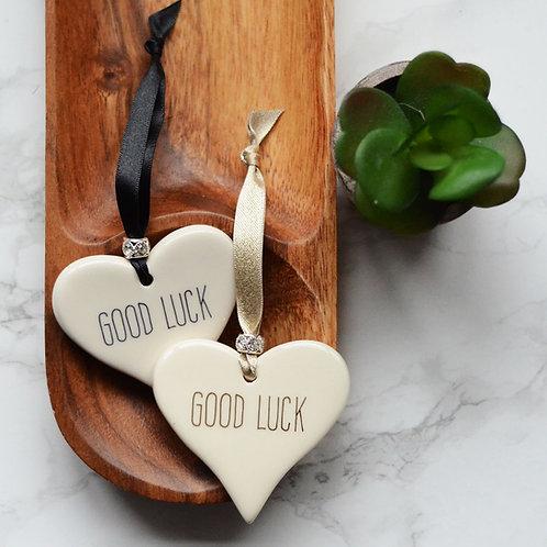 Good Luck Ceramic Heart