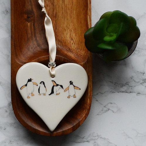 Penguin Ceramic Heart
