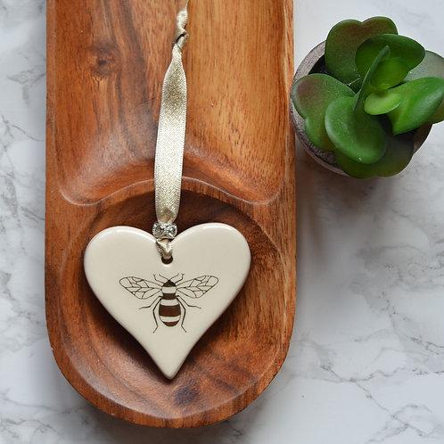 Gold Bee Heart