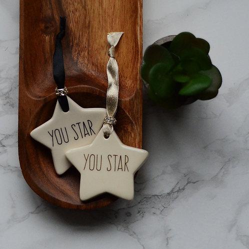 You Star Ceramic Star or Heart