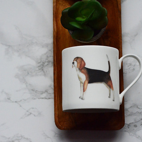 Beagle Fine Bone China Mug